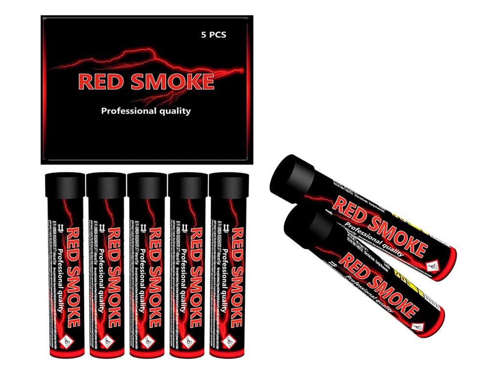 Smoke Tube Red 5 stuks