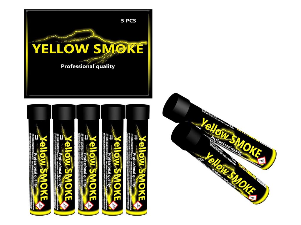 Smoke Tube Yellow 5 stuks